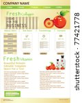 website design template with... | Shutterstock .eps vector #77421778