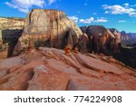 rock stacks carins on angel's... | Shutterstock . vector #774224908