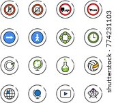 line vector icon set   no... | Shutterstock .eps vector #774231103