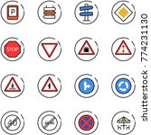 line vector icon set   parking... | Shutterstock .eps vector #774231130