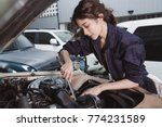 girl in garage | Shutterstock . vector #774231589