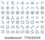 arrow icon set in flat style.  | Shutterstock . vector #774232534