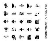 icon set of acoustics and sound ... | Shutterstock . vector #774232540