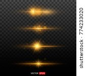 shining star  the sun particles ...   Shutterstock .eps vector #774233020