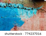 the color of the wall stained... | Shutterstock . vector #774237016
