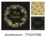 merry christmas and happy new... | Shutterstock .eps vector #774237580