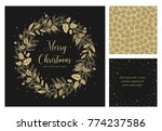 merry christmas and happy new... | Shutterstock .eps vector #774237586