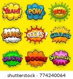 multicolored comic speech... | Shutterstock .eps vector #774240064