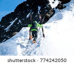 extreme skier on the summit... | Shutterstock . vector #774242050