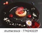 exquisite restaurant mousse... | Shutterstock . vector #774243229