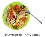green plastic dish with food... | Shutterstock . vector #774243883