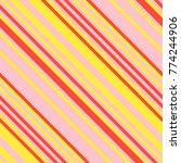 seamless pattern in memphis... | Shutterstock .eps vector #774244906