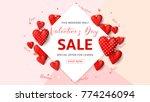 happy valentine's day sale... | Shutterstock .eps vector #774246094