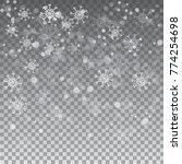 snowflakes on grey background   Shutterstock .eps vector #774254698