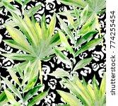 watercolor seamless pattern... | Shutterstock . vector #774255454