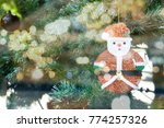 christmas tree and santa claus... | Shutterstock . vector #774257326