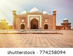 taj mosque in taj mahal complex.... | Shutterstock . vector #774258094
