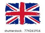grunge uk flag.vintage british... | Shutterstock .eps vector #774261916