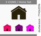house icon set.
