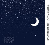 night sky with moon and stars.... | Shutterstock .eps vector #774266068
