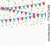 bunting flags  ribbons and... | Shutterstock .eps vector #774267688
