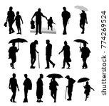 people silhouette set different ... | Shutterstock .eps vector #774269524