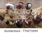top view of happy people...   Shutterstock . vector #774271093