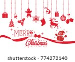 christmas card celebration and... | Shutterstock .eps vector #774272140