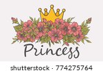 princess. floral bouquet with... | Shutterstock .eps vector #774275764