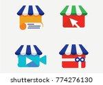 shop logo set  template design...