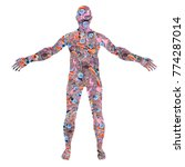 human body silhouette made from ...   Shutterstock . vector #774287014