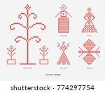 slavic red and belarusian... | Shutterstock . vector #774297754