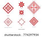 slavic red and belarusian... | Shutterstock . vector #774297934