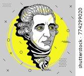 creative modern portrait of... | Shutterstock .eps vector #774299020