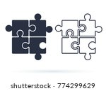 puzzle icon vector  filled flat ... | Shutterstock .eps vector #774299629