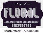 font.alphabet.script.typeface... | Shutterstock .eps vector #774300088
