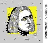 creative modern portrait of...   Shutterstock .eps vector #774301048