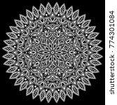 mandala pattern white good mood | Shutterstock .eps vector #774301084