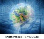 abstract internet background | Shutterstock . vector #77430238