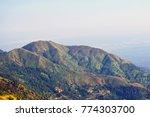 green mountain landscape in... | Shutterstock . vector #774303700