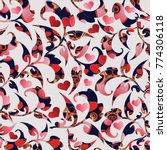 floral vintage love hearts...   Shutterstock .eps vector #774306118