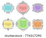 set of colorful floral frames...   Shutterstock .eps vector #774317290