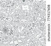seamless black and white ... | Shutterstock .eps vector #774317608