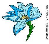 flower peony vector... | Shutterstock .eps vector #774318409