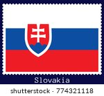 vector postage stamp of a... | Shutterstock .eps vector #774321118