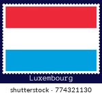 vector postage stamp of a... | Shutterstock .eps vector #774321130