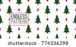 vector red and green christmas... | Shutterstock .eps vector #774336298