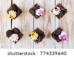 trifle black and white... | Shutterstock . vector #774339640