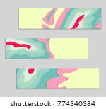 abstract banner template with... | Shutterstock .eps vector #774340384