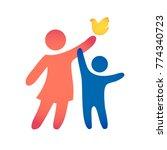 happy family icon multicolored... | Shutterstock .eps vector #774340723